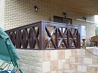 Деревянные ограждения террасы и балкона. Цена с установкой.