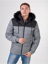 Зимняя мужская куртка short grey