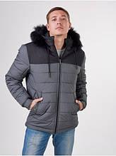 Зимняя мужская куртка short graphite