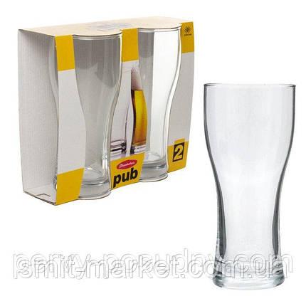 Пивные бокалы 2 шт Pasabahce Pub 580 мл, фото 2