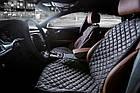 Накидки/чехлы на сиденья из эко-замши Пежо 607 (Peugeot 607), фото 3