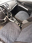Накидки/чехлы на сиденья из эко-замши Пежо 607 (Peugeot 607), фото 5