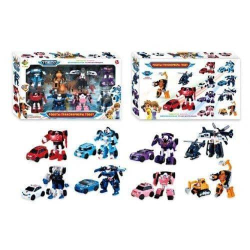 """Набор трансформеров """"Tobot"""" 8 шт. игрушка, набор машинок-трансформеров, детские машинки, машинка робот"""
