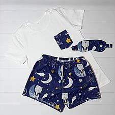 """Подарунковий жіночий набір з піжамою, маскою для сну і милом в подарунковій коробці """"Солодких снів"""", фото 2"""