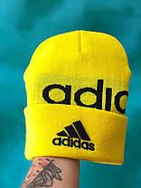 Шапка Adidas / шапка адидас/ шапка женская / шапка мужская / желтый, фото 3