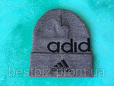 Шапка Adidas/ шапка адідас/ шапка жіноча/шапка чоловіча/ сірий, фото 2