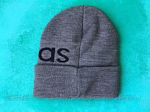 Шапка Adidas/ шапка адідас/ шапка жіноча/шапка чоловіча/ сірий, фото 3