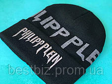 Шапка Philipp Plein / шапка філіп преин / шапка жіноча/шапка чоловіча/ чорний, фото 2