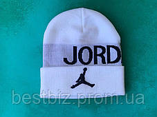 Шапка JORDAN  / шапка джордан / шапка женская/шапка мужская/белый, фото 3