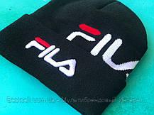 Шапка Fila / шапка філа/ шапка жіноча/шапка чоловіча/чорний, фото 2