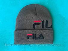 Шапка Fila  / шапка фила/ шапка женская/шапка мужская/хаки, фото 2