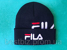 Шапка Fila / шапка філа/ шапка жіноча/шапка чоловіча/темно-синій, фото 3