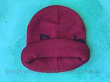 Шапка reebok / шапка рибок / шапка женская/шапка мужская/бордовый, фото 3