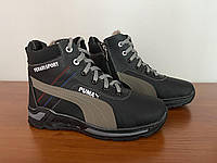 Женские зимние ботинки черные (код 4053)