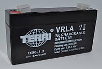 Аккумулятор 6v 1.3a SLA 97*24*52 мм  DB6-1.3 TERRI, фото 1