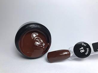 Гель паста для нігтів City Nail 18 коричнева (шоколадний колір)
