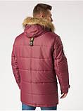 Зимняя мужская куртка B5 Burgundy, фото 4
