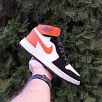 Жіночі кросівки Nike Air Jordan (біло-чорні з помаранчевим) 20240, фото 5