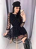 Платье женское в сеточку чёрное 42-44,44-46, фото 3