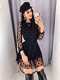 Платье женское в сеточку чёрное 42-44,44-46, фото 4