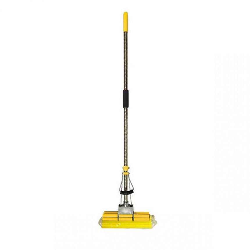 Швабра с телескопической ручкой 2 отжима желтая Eco Fabric EF-2701