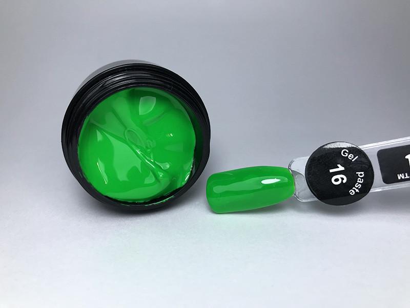 Гель паста для нігтів City Nail 16 зелена