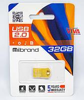 USB флешка Mibrand Hawk 32GB Gold (MI2.0/HA32M1G)
