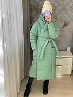 Женская зимняя куртка одеяло пальто удлиненное на флисовой подкладке+200 силикона размер: 42, 44, 46, 48