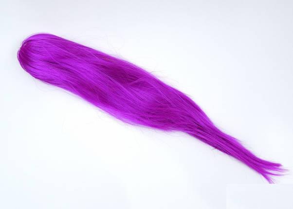 Парик с ровными волосами сиреневый, 52 см, фото 2
