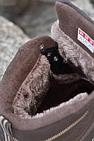 Ботинки мужские зимние 8 пар в ящике коричневого цвета с мехом 41-46, фото 4