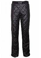 Стеганые черные брюки на меху Монблан на девочку р 36-44