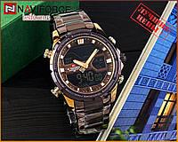 Оригинальные Мужские Наручные часы Naviforce NF9138S Brown-Cuprum