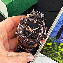 Оригінальні Чоловічі Наручні годинники Naviforce NF9138S Brown-Cuprum, фото 2