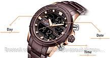 Оригінальні Чоловічі Наручні годинники Naviforce NF9138S Brown-Cuprum, фото 3