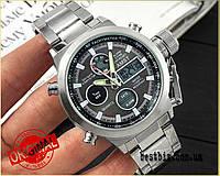 Оригинальные Мужские Наручные часы AMST 3003 Silver-Black Metall / стальной ремешок
