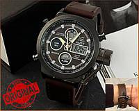 Оригинальные Мужские Наручные часы AMST 3003 Black-Brown Wristband