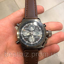 Оригінальні Чоловічі Наручні годинники AMST 3003 Black-Brown Wristband, фото 2