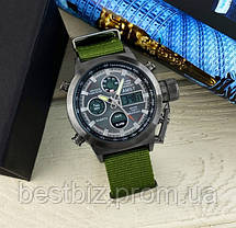 Оригинальные мужские часы AMST 3003 Black-Black Green Wristband, фото 3