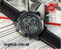 Оригинальные наручные мужские часы AMST 3022 All Black Fluted Wristband