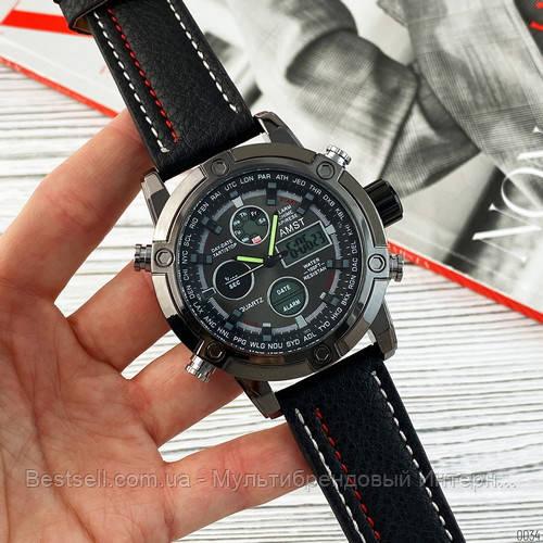 Оригінальні наручні чоловічі годинники AMST 3022 All Black Fluted Wristband