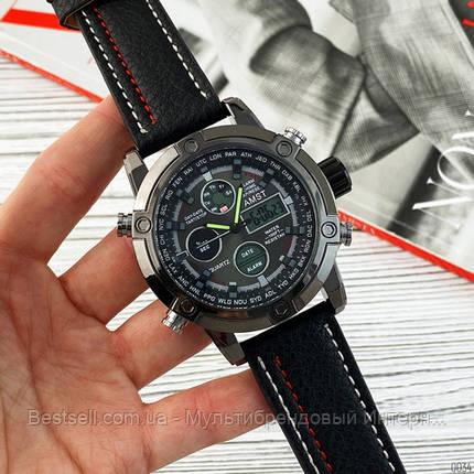 Оригінальні наручні чоловічі годинники AMST 3022 All Black Fluted Wristband, фото 2