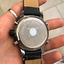 Оригінальні наручні чоловічі годинники AMST 3022 Black-Red Fluted Wristband, фото 3