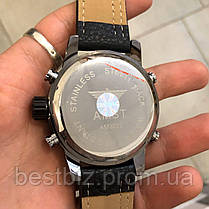 Оригинальные наручные мужские часы AMST 3022 Black-Red Fluted Wristband, фото 3