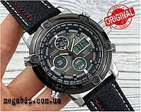 Оригинальные наручные мужские часы AMST 3022 Silver-Black Fluted Wristband