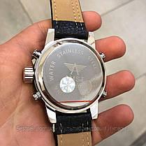 Оригінальні наручні чоловічі годинники AMST 3022 Silver-Black Fluted Wristband, фото 3