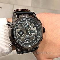 Оригінальні наручні чоловічі годинники AMST 3022 All Black Smooth Wristband, фото 2