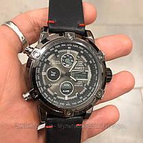 Оригінальні наручні чоловічі годинники AMST 3022 All Black Smooth Wristband, фото 3