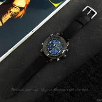 Оригінальні наручні чоловічі годинники AMST 3022 Black-Blue Smooth Wristband, фото 2