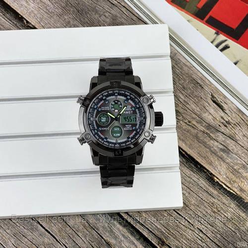 Оригинальные наручные мужские часы AMST 3022 Metall All Black