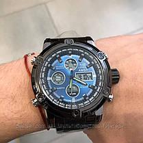 Оригинальные наручные мужские часы AMST 3022 Metall Black-Blue, фото 2